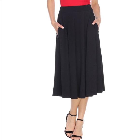 top fashion latest sale modern techniques Black Mark Midi Skirt NWT